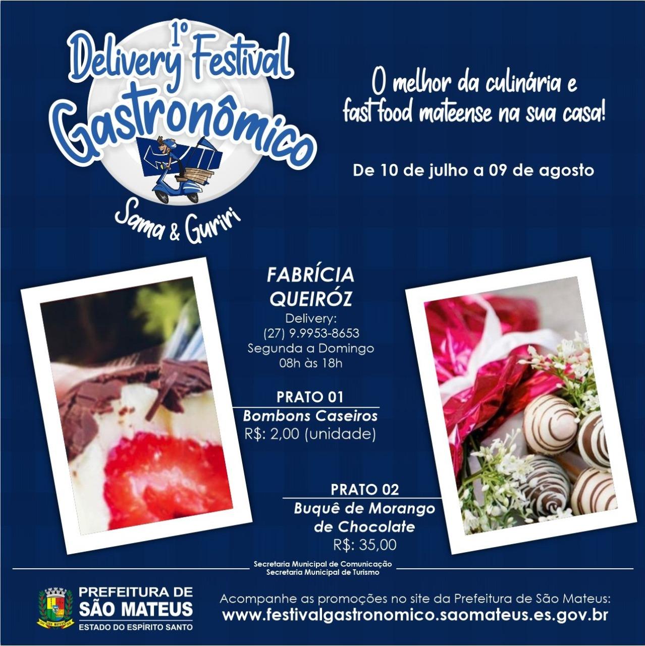 Delivery Festival Sama & Guriri O MELHOR DA GASTRONOMIA MATEENSE NA SUA CASA: JÁ ESCOLHEU O SEU PRATO HOJE?