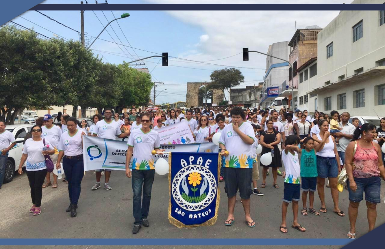APAE DE SÃO MATEUS ABRE SEMANA NACIONAL COM CAMINHADA