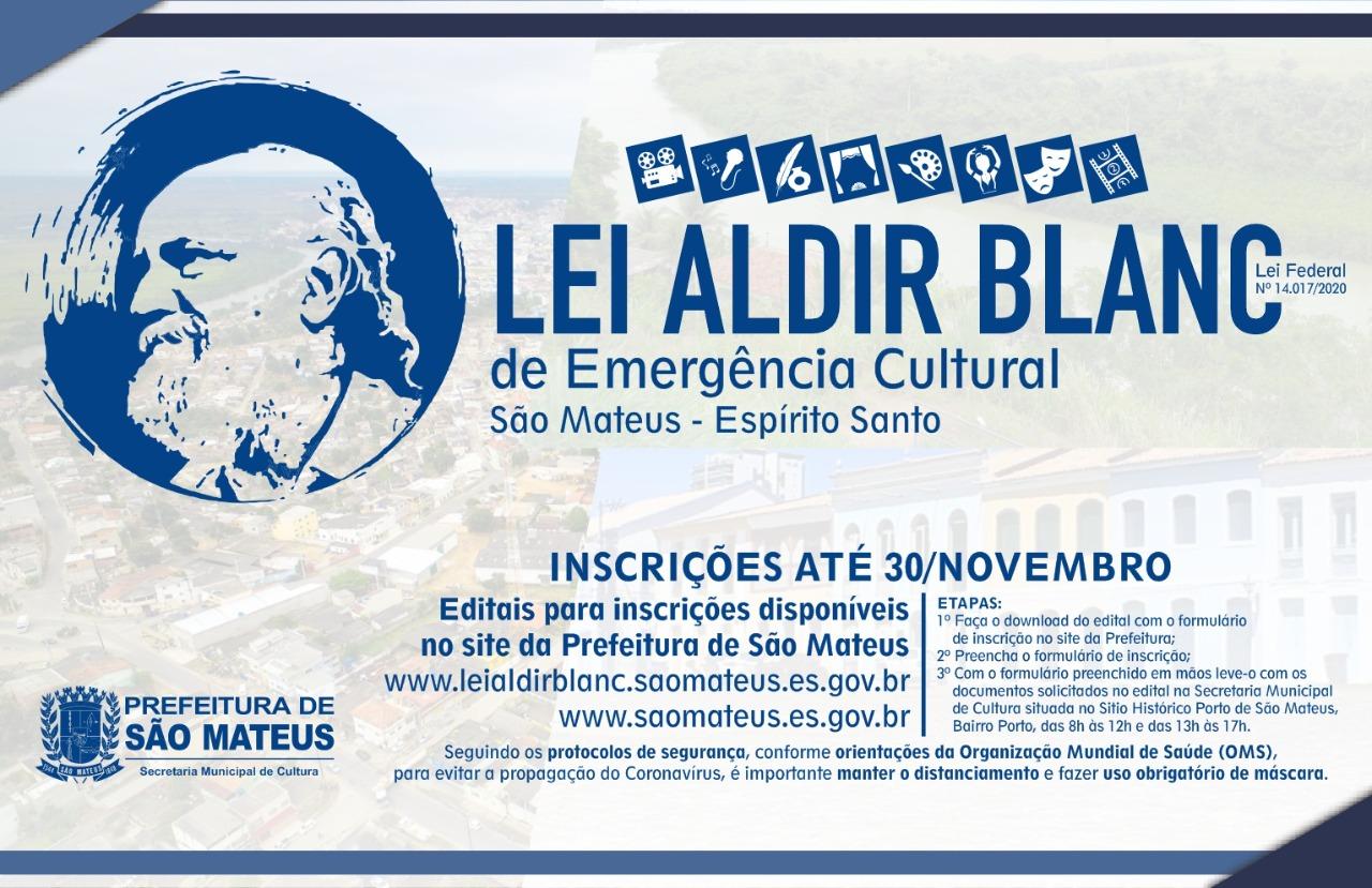 PRORROGADAS INSCRIÇÕES PARA AUXÍLIO EMERGENCIAL DA CULTURA DA LEI ALDIR BLANC