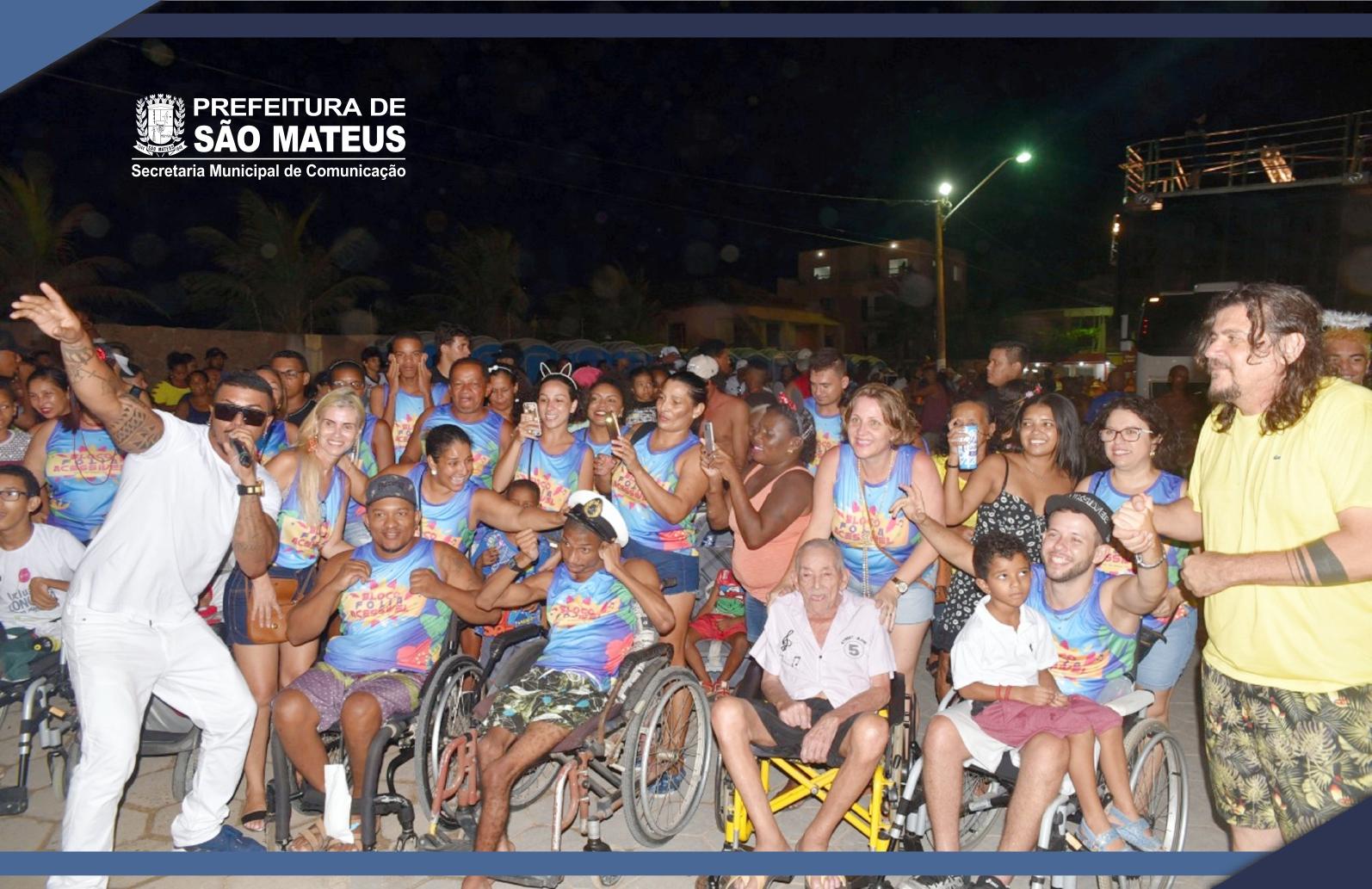 Carnaval Guriri 2019: Bloco Folia Acessível rompe  dificuldades e participa da folia