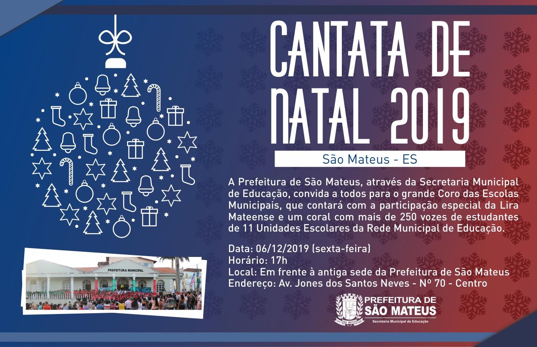 CONVITE: PREFEITURA DE SÃO MATEUS REALIZA CANTATA DE NATAL 2019