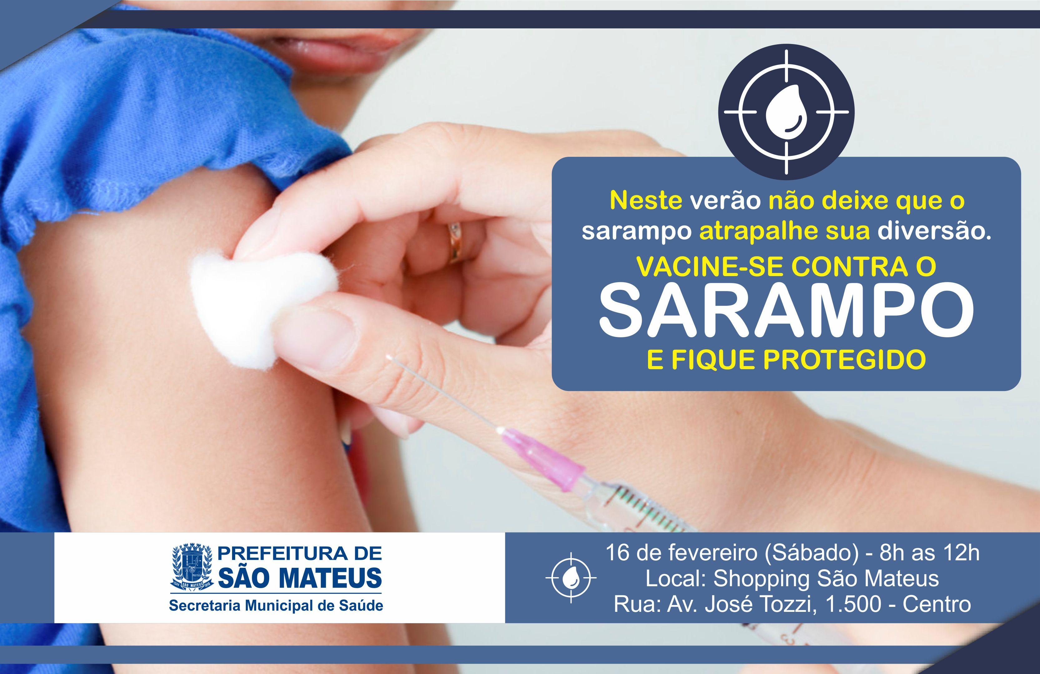 Prefeitura realiza vacinação contra sarampo no centro de São Mateus