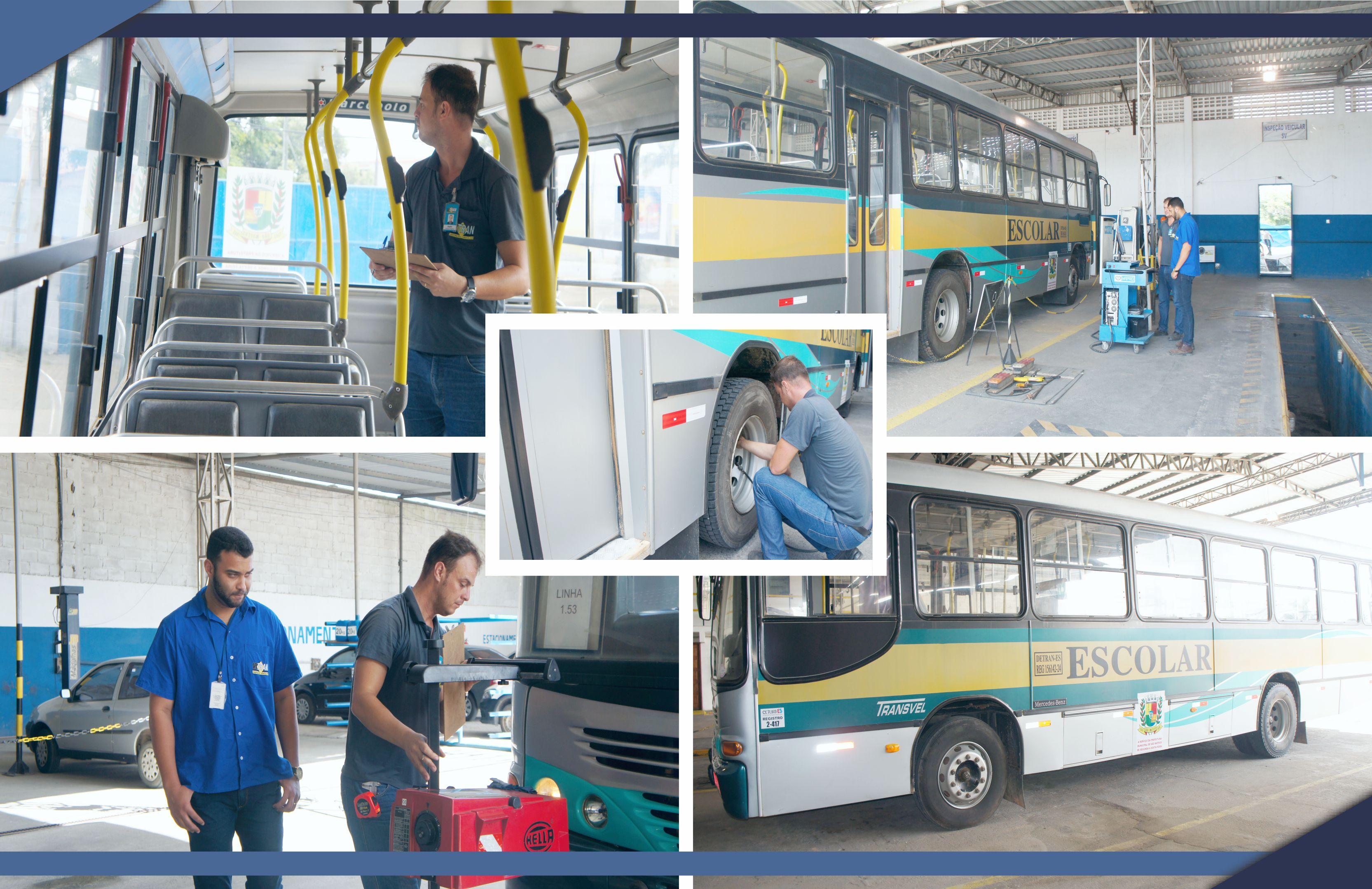 Prefeitura garante circulação de frota  de transporte escolar com segurança