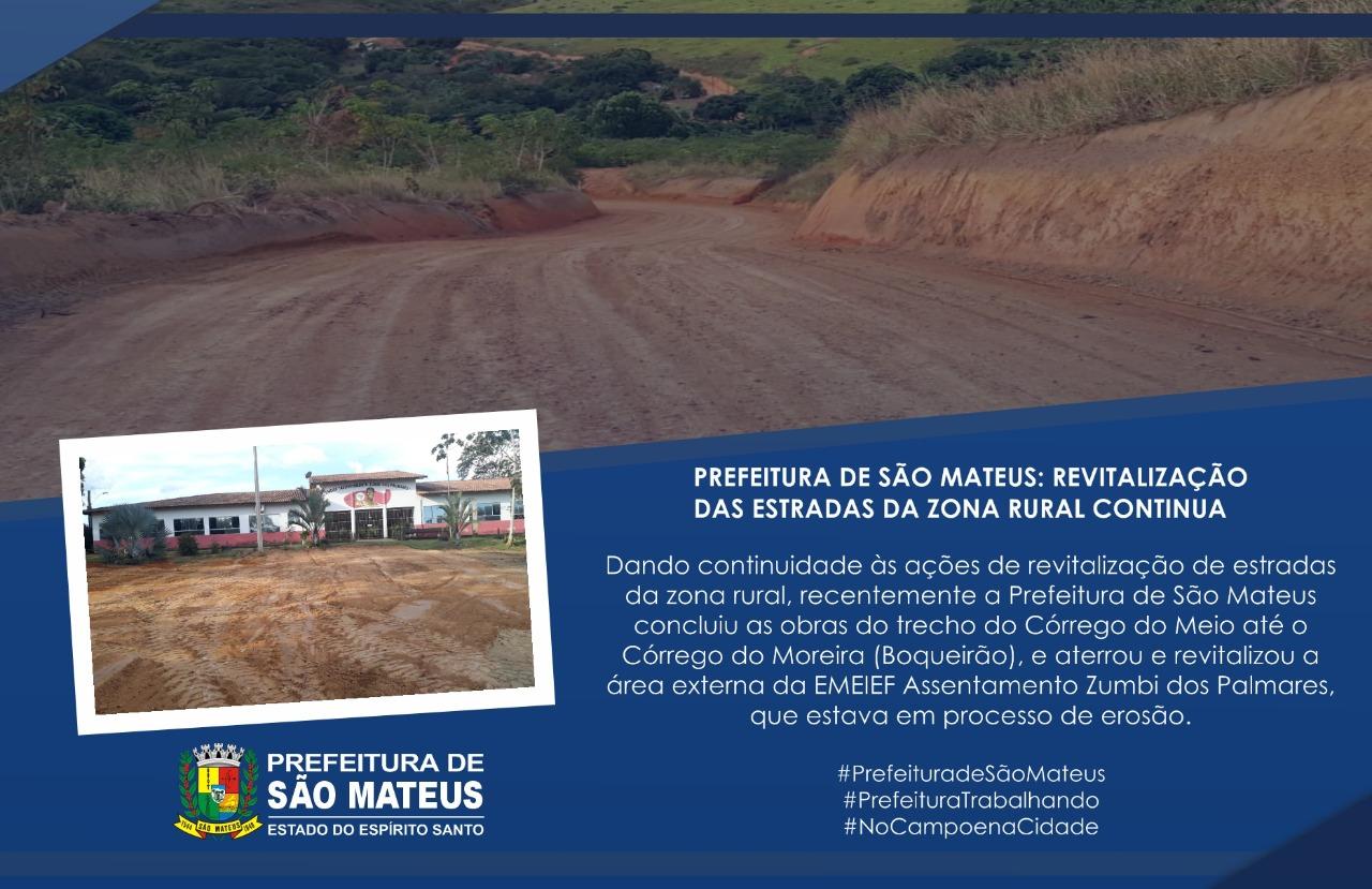 PREFEITURA DE SÃO MATEUS: REVITALIZAÇÃO DAS ESTRADAS DA ZONA RURAL CONTINUA