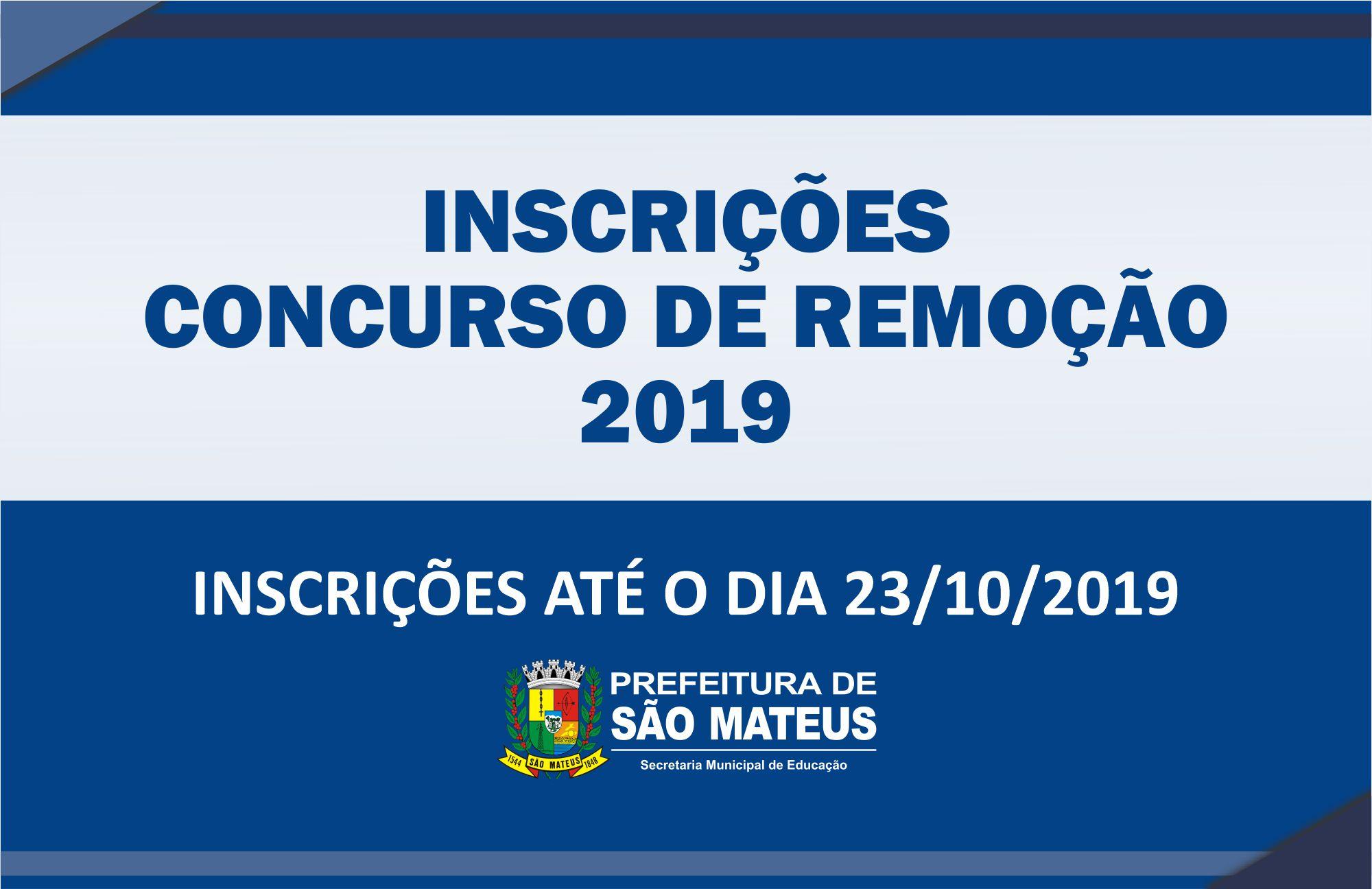 PREFEITURA ABRE INSCRIÇÕES PARA CONCURSO DE REMOÇÃO 2019