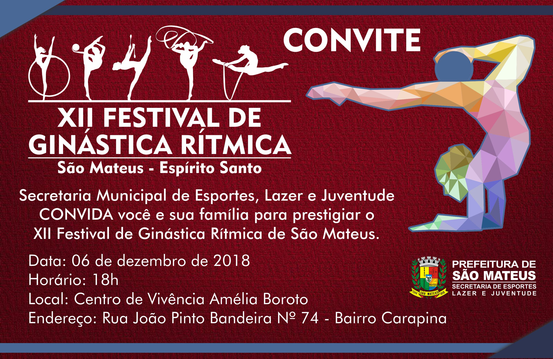"""XII Festival de Ginastica Rítmica apresentará alunas do projeto """"Campeões do Futuro"""""""