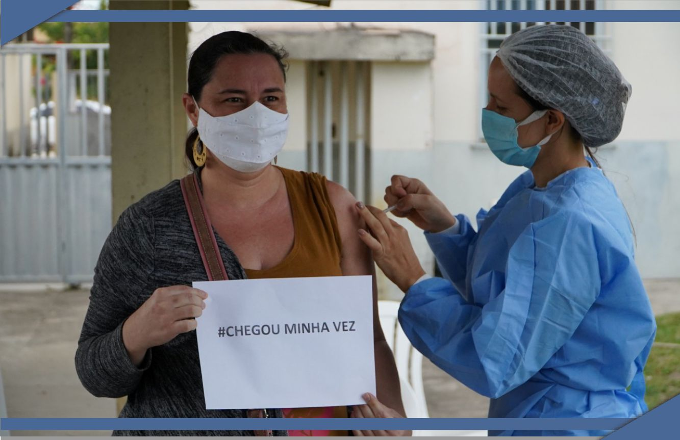 VACINAÇÃO CONTRA COVID NESTE SÁBADO (23) NO BAIRRO SANTA TEREZA