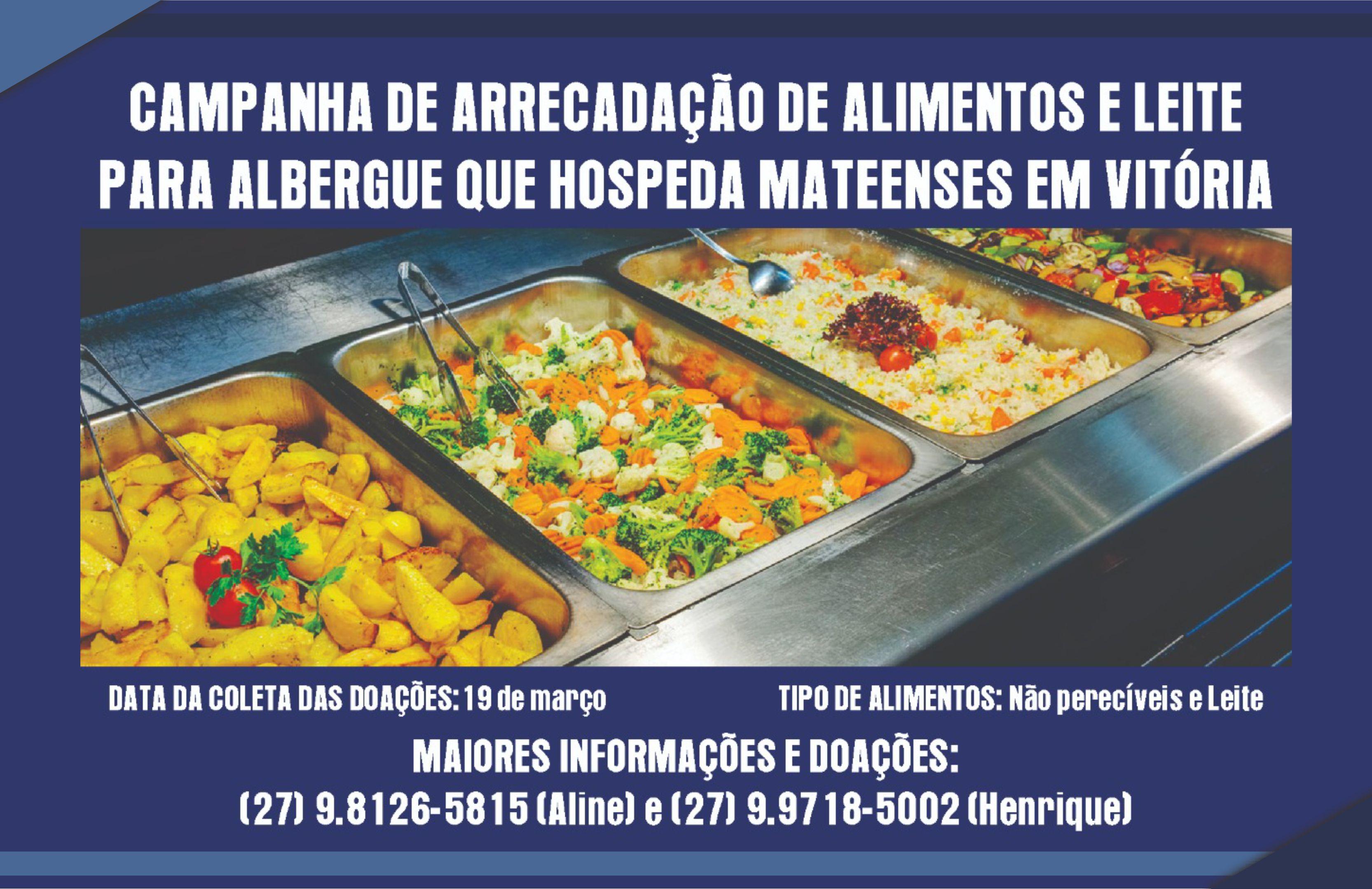 Campanha para ajudar albergues de pacientes de São Mateus