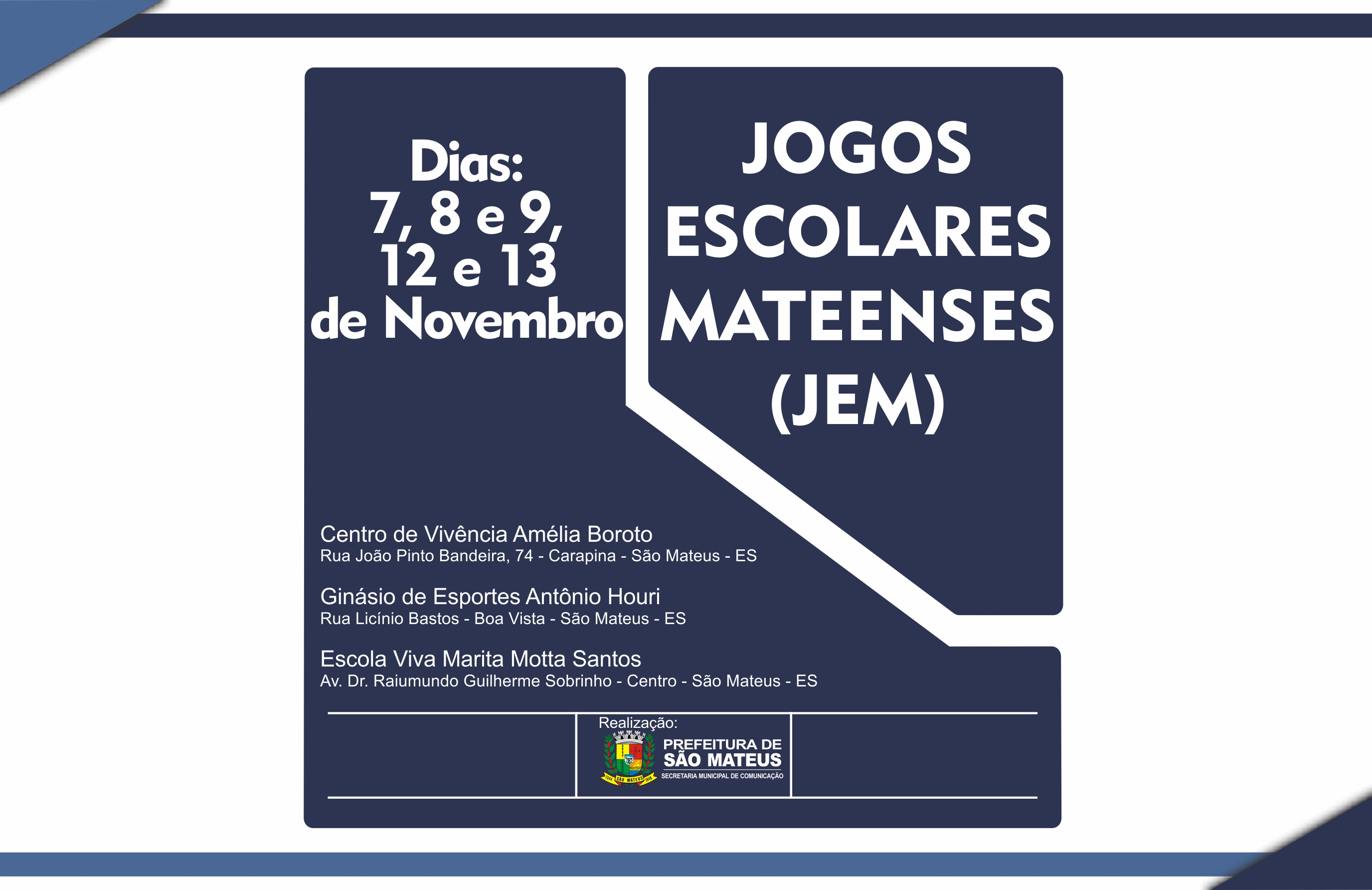 Jogos Escolares Mateenses iniciam nesta quarta-feira
