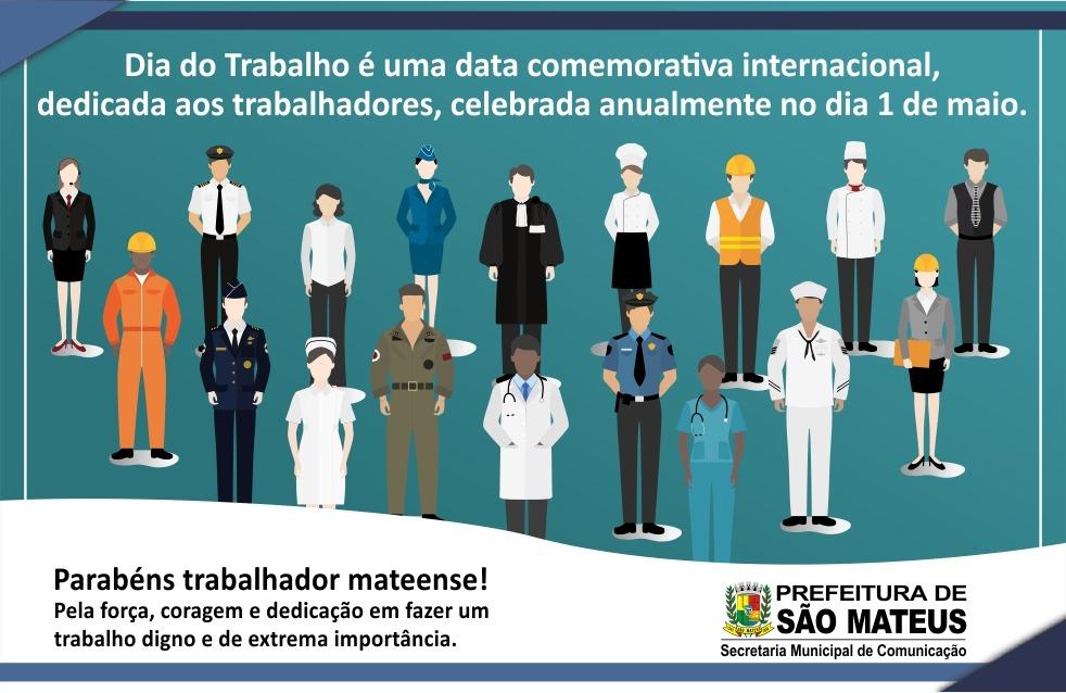 1° DE MAIO DIA DO TRABALHO - PARABÉNS A TODOS TRABALHADORES MATEENSES