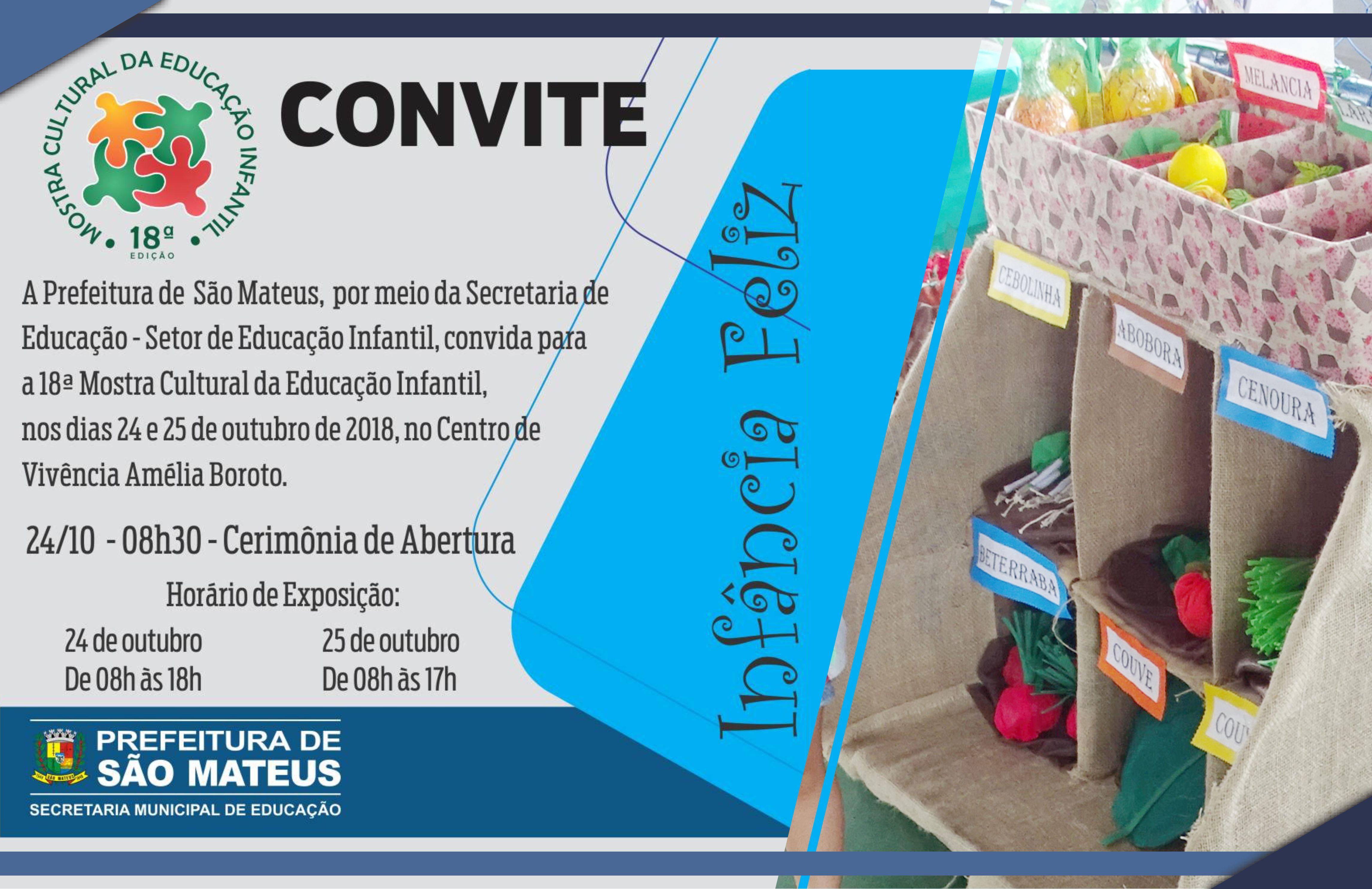 Infância Feliz é destaque em Mostra Cultural da Secretaria Municipal de Educação