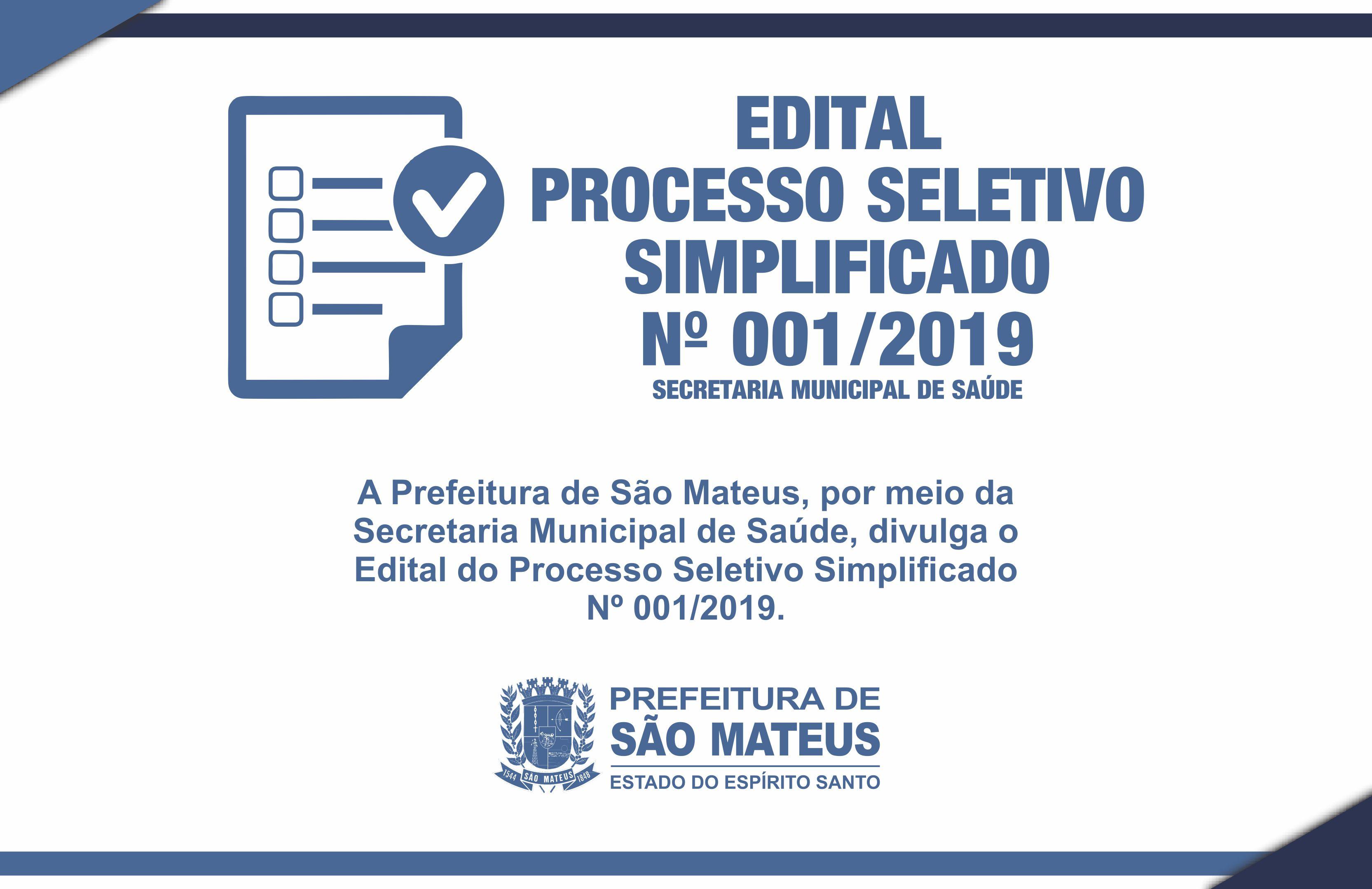PREFEITURA DIVULGA EDITAL DE PROCESSO SELETIVO SIMPLIFICADO PARA PROFISSIONAIS DA SAÚDE