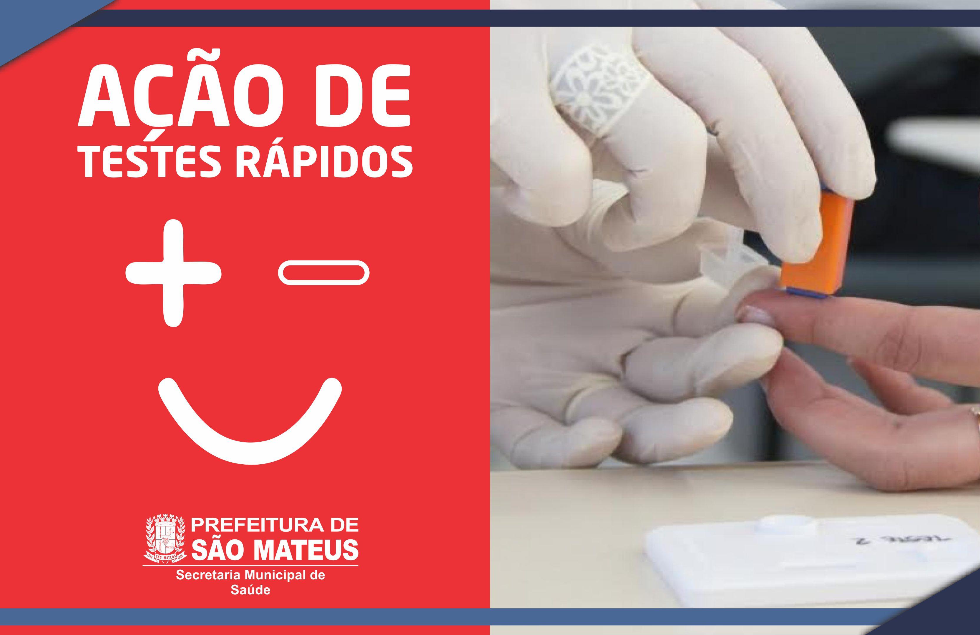 SAÚDE: PREFEITURA PROMOVE AÇÃO DE TESTES RÁPIDOS NO BAIRRO BOA VISTA