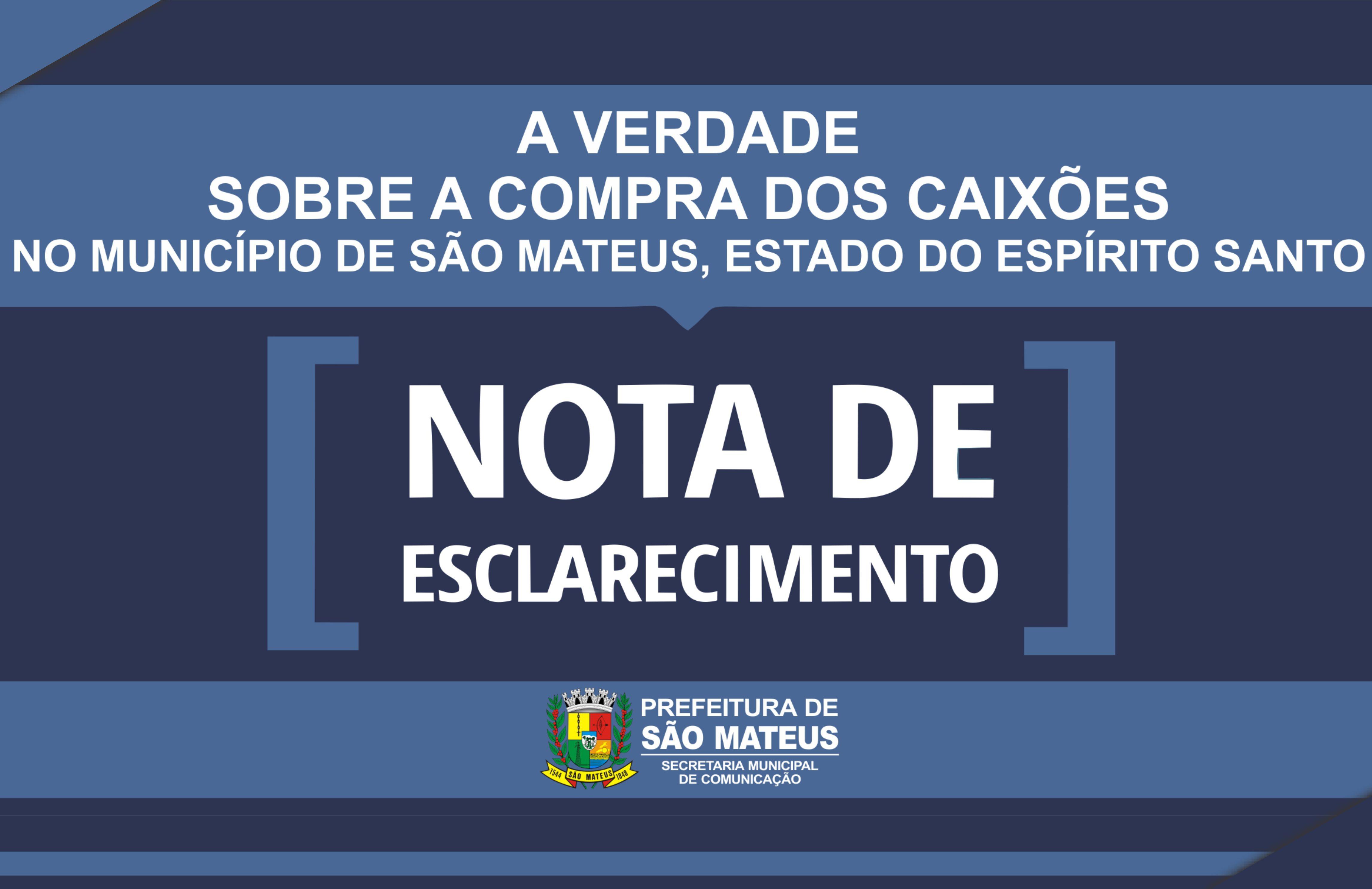 A verdade sobre a compra dos Caixões em São Mateus/ES