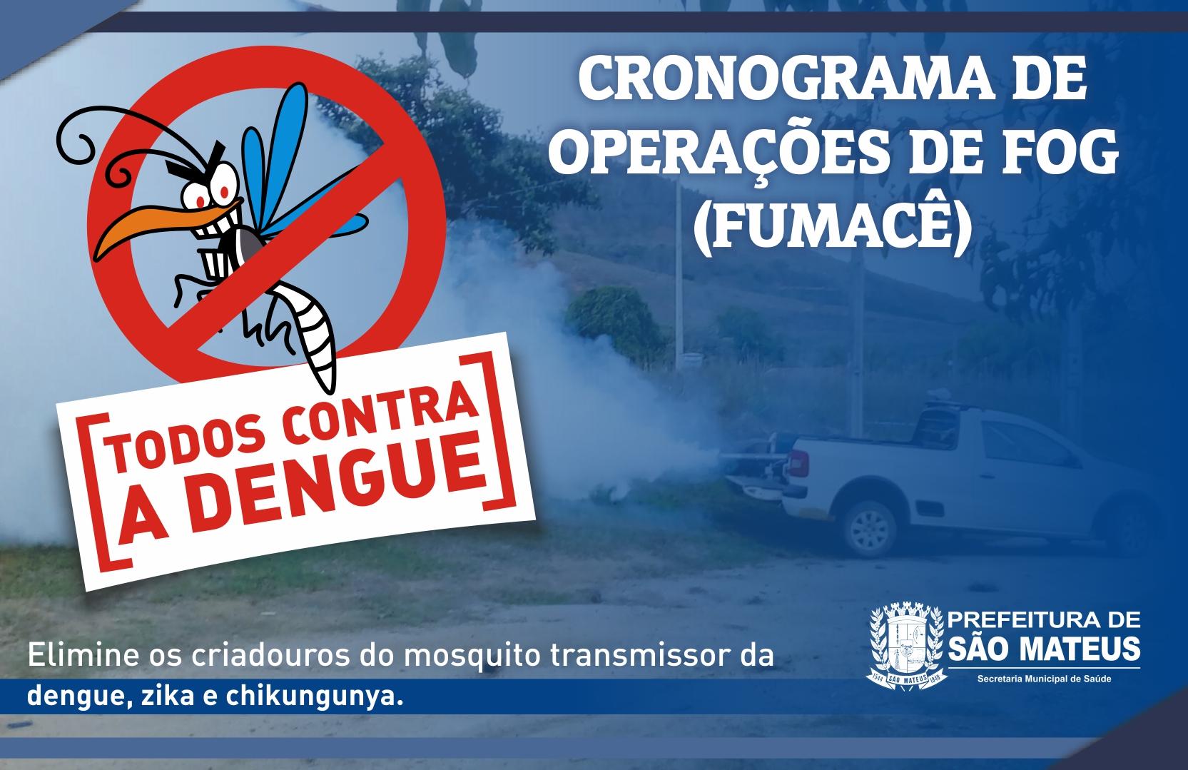 PREFEITURA SEGUE COM O CRONOGRAMA DE OPERAÇÕES DO CARRO FUMACÊ NO COMBATE AO MOSQUITO DA DENGUE