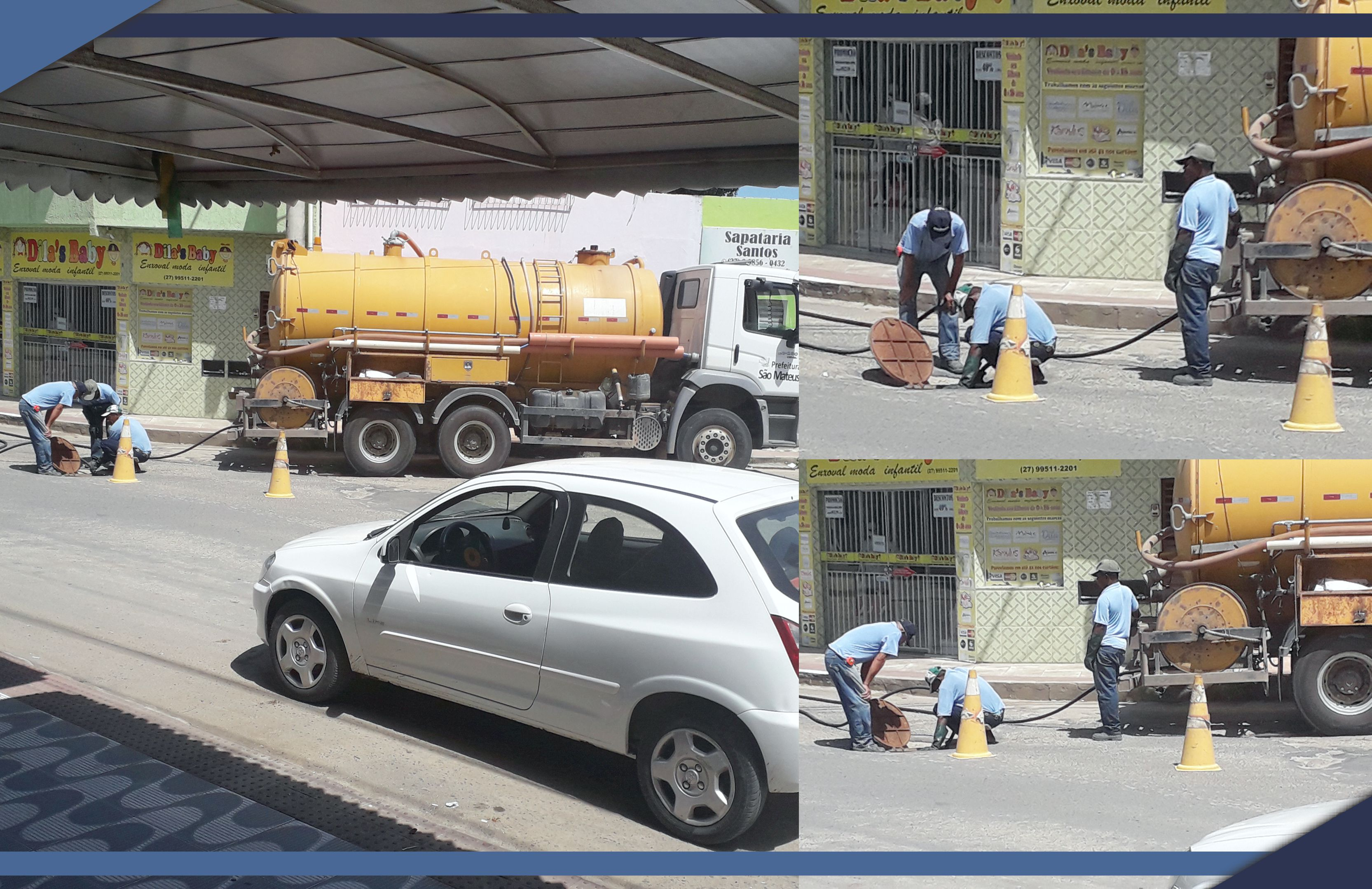SAAE e PMSM realizam limpeza de esgotos contínua na cidade