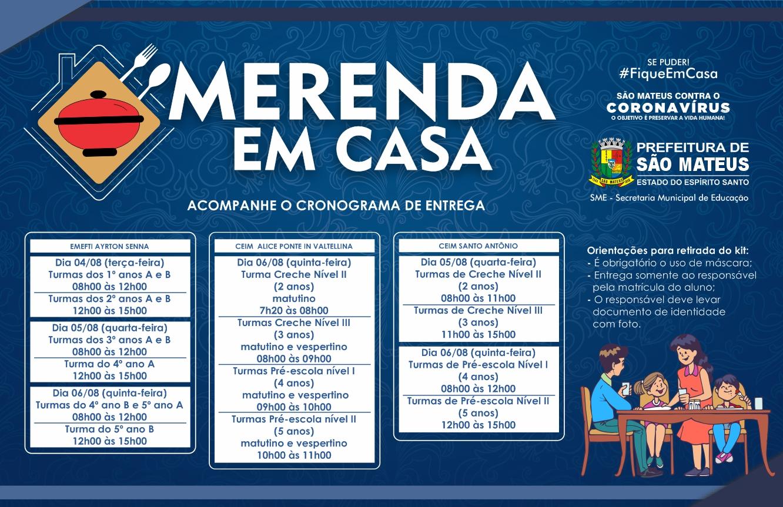 PRIMEIRO CRONOGRAMA: PREFEITURA DE SÃO MATEUS INICIA NOVA ETAPA DE ENTREGA DA CESTA MERENDA EM CASA