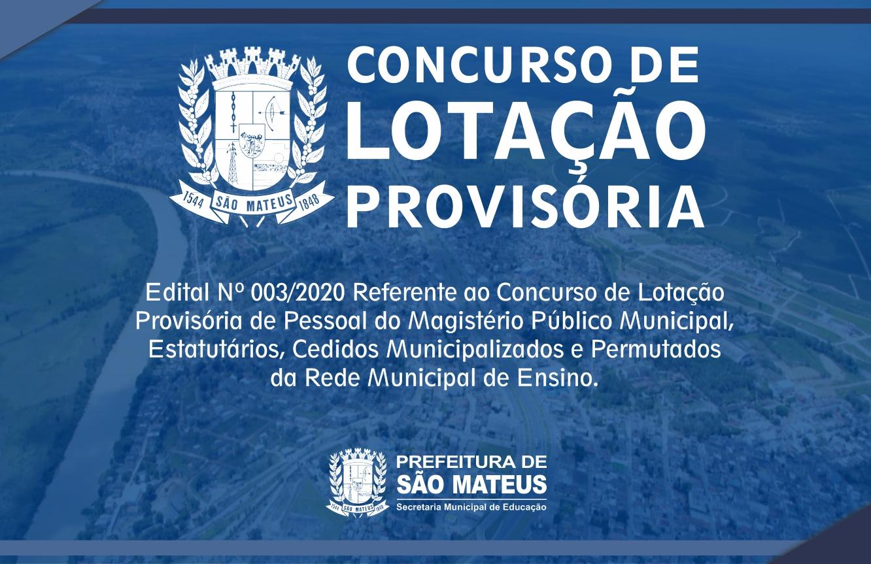 CONCURSO DE LOTAÇÃO PROVISÓRIA 2020