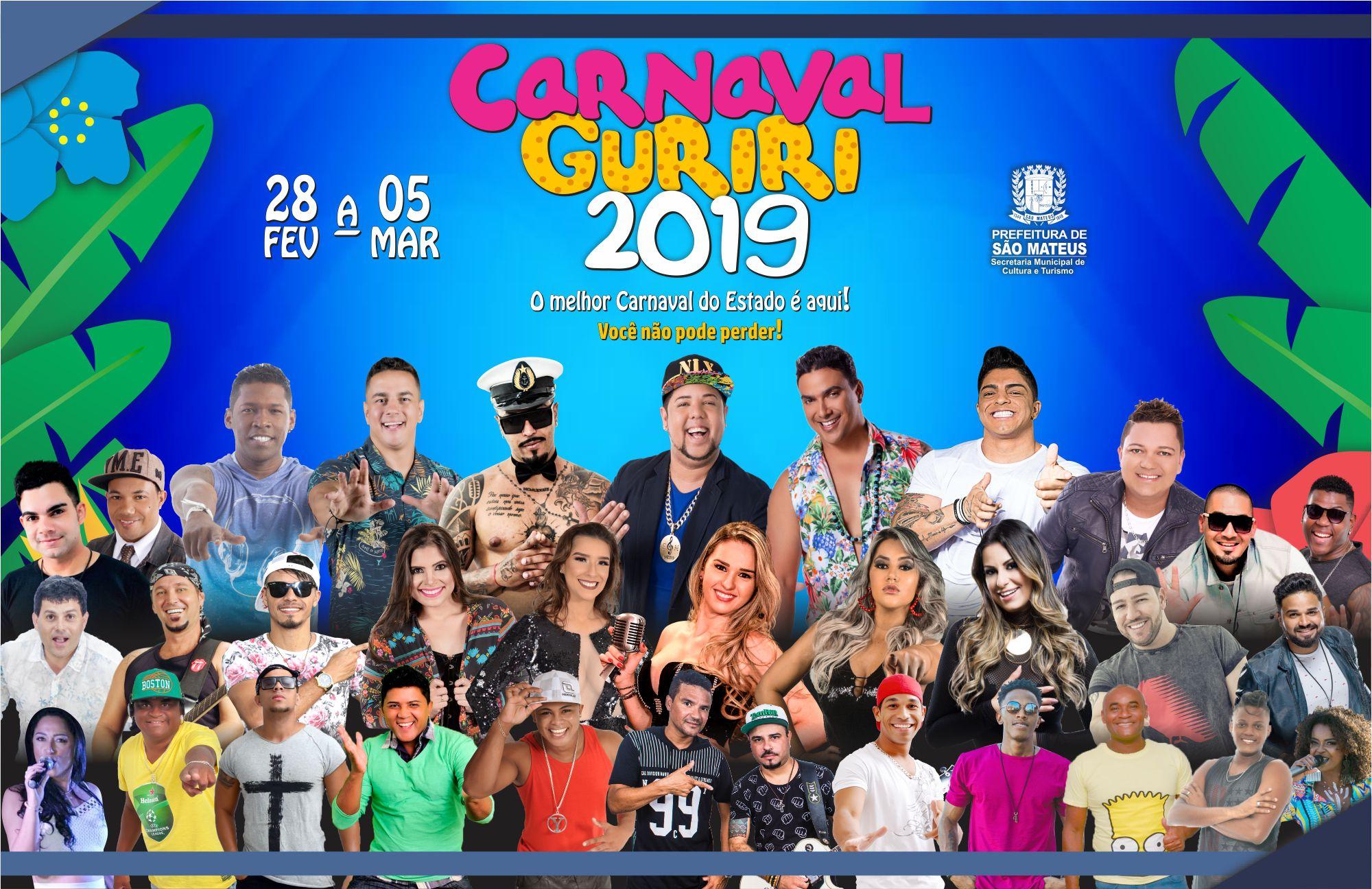 Carnaval Guiriri 2019: Prefeitura Divulga Programação Oficial do Carnaval de Guriri