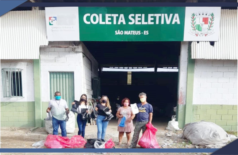 PREFEITURA DE SÃO MATEUS FAZ ENTREGA DE EPIs PARA ASSOCIAÇÕES DE CATADORES DE RECICLADOS