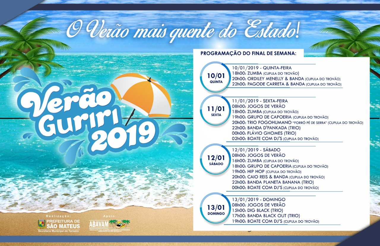 """PMSM realiza programação """"Verão Guriri 2019"""" neste final de semana"""