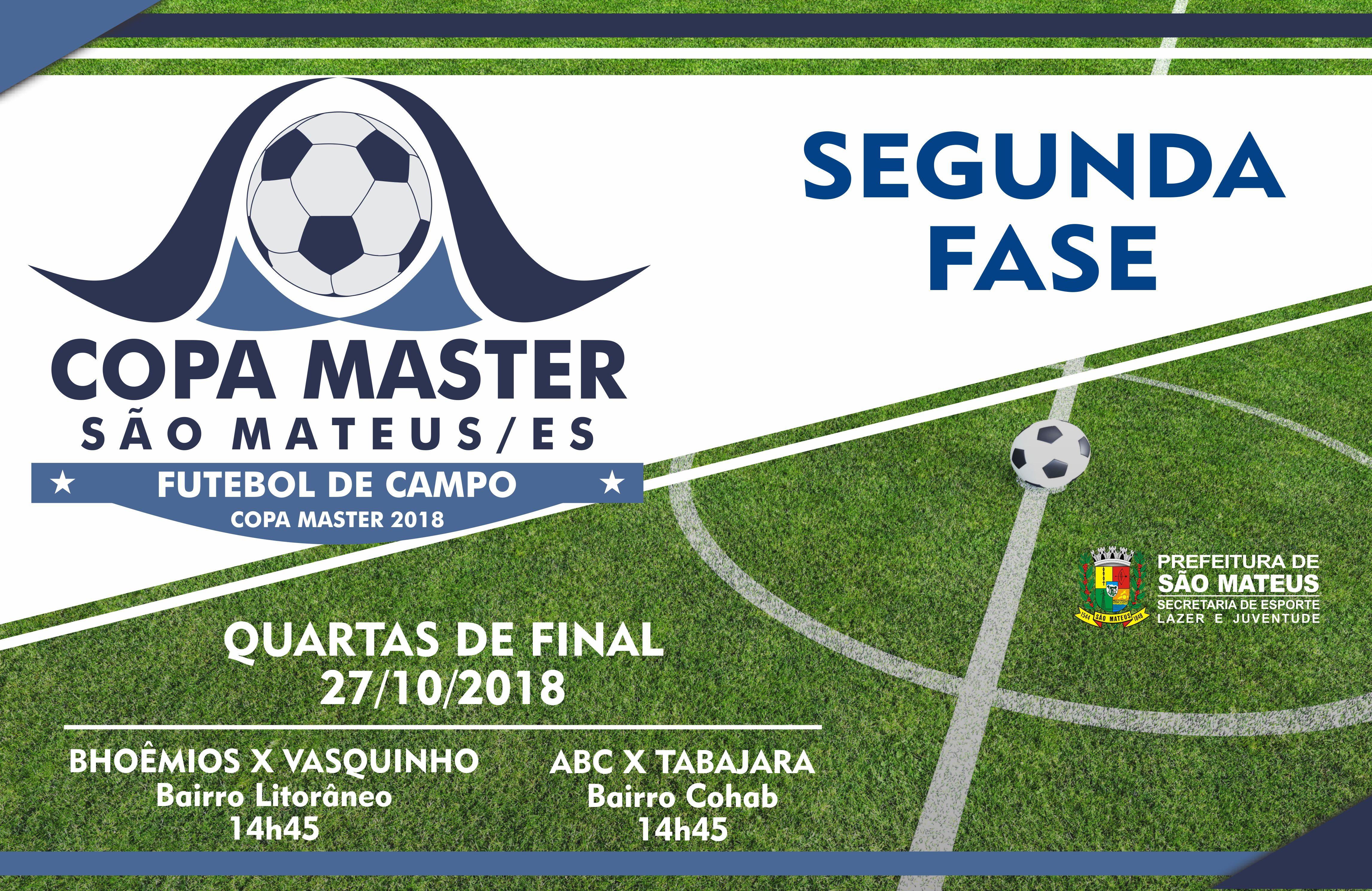 Quartas de Final da Copa Master 2018 iniciam neste Sábado (27)