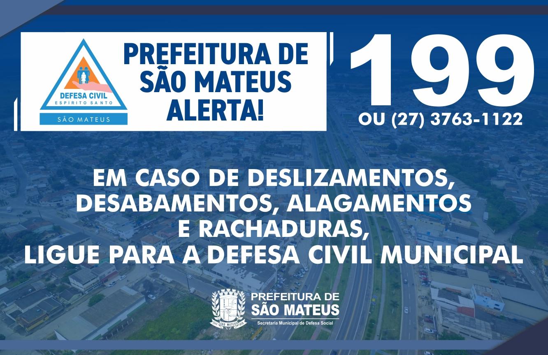 CHUVA FORTE EM SÃO MATEUS: PREVINA-SE!