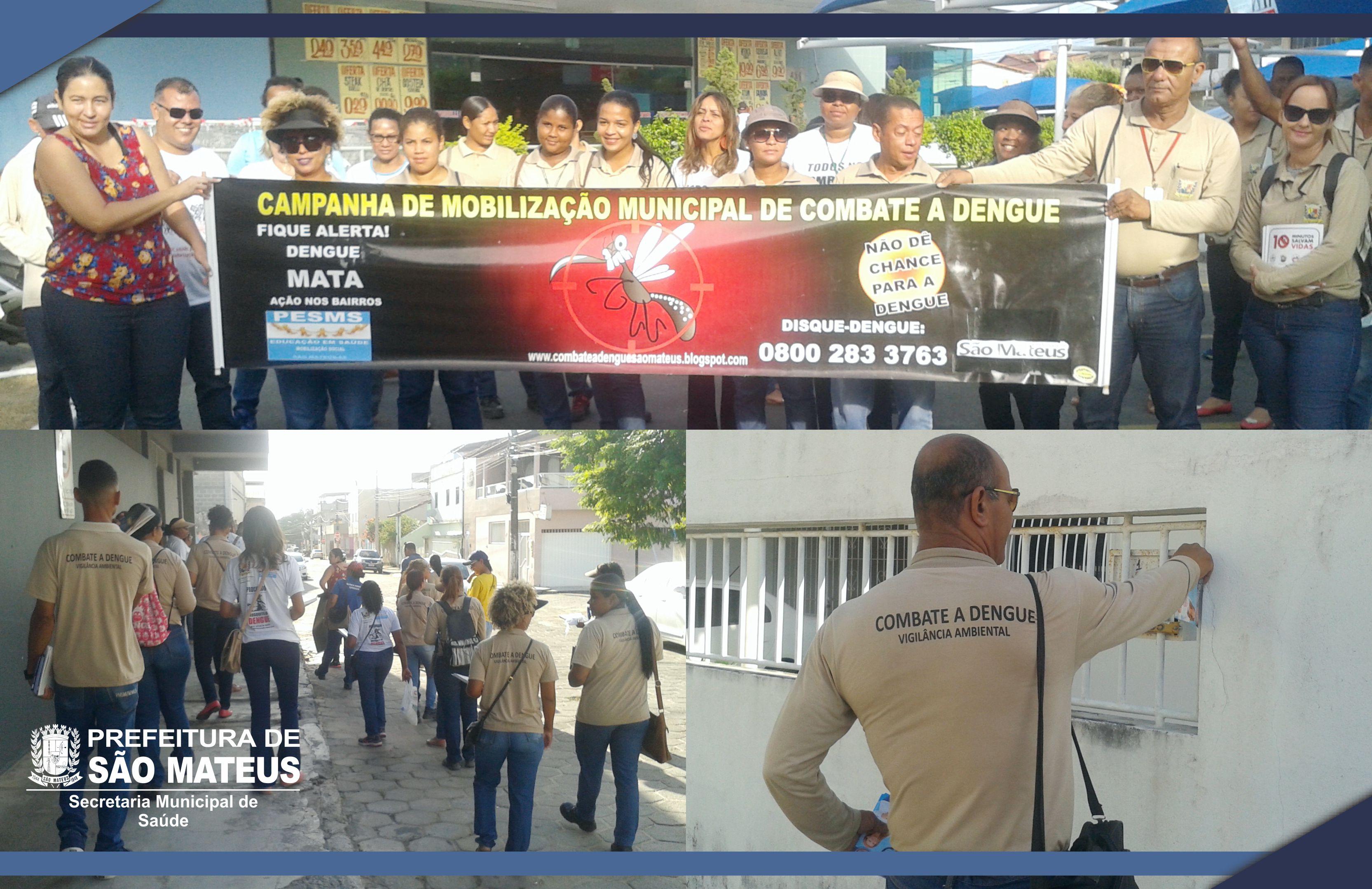 PMSM realiza campanha contra o mosquito da dengue