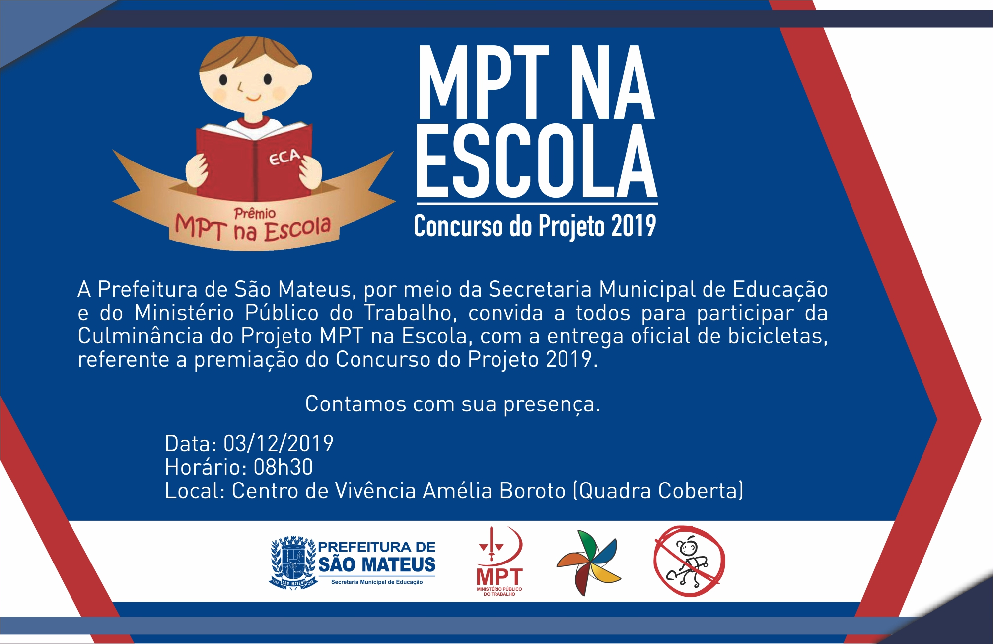 MPT NA ESCOLA CONCURSO DO PROJETO 2019