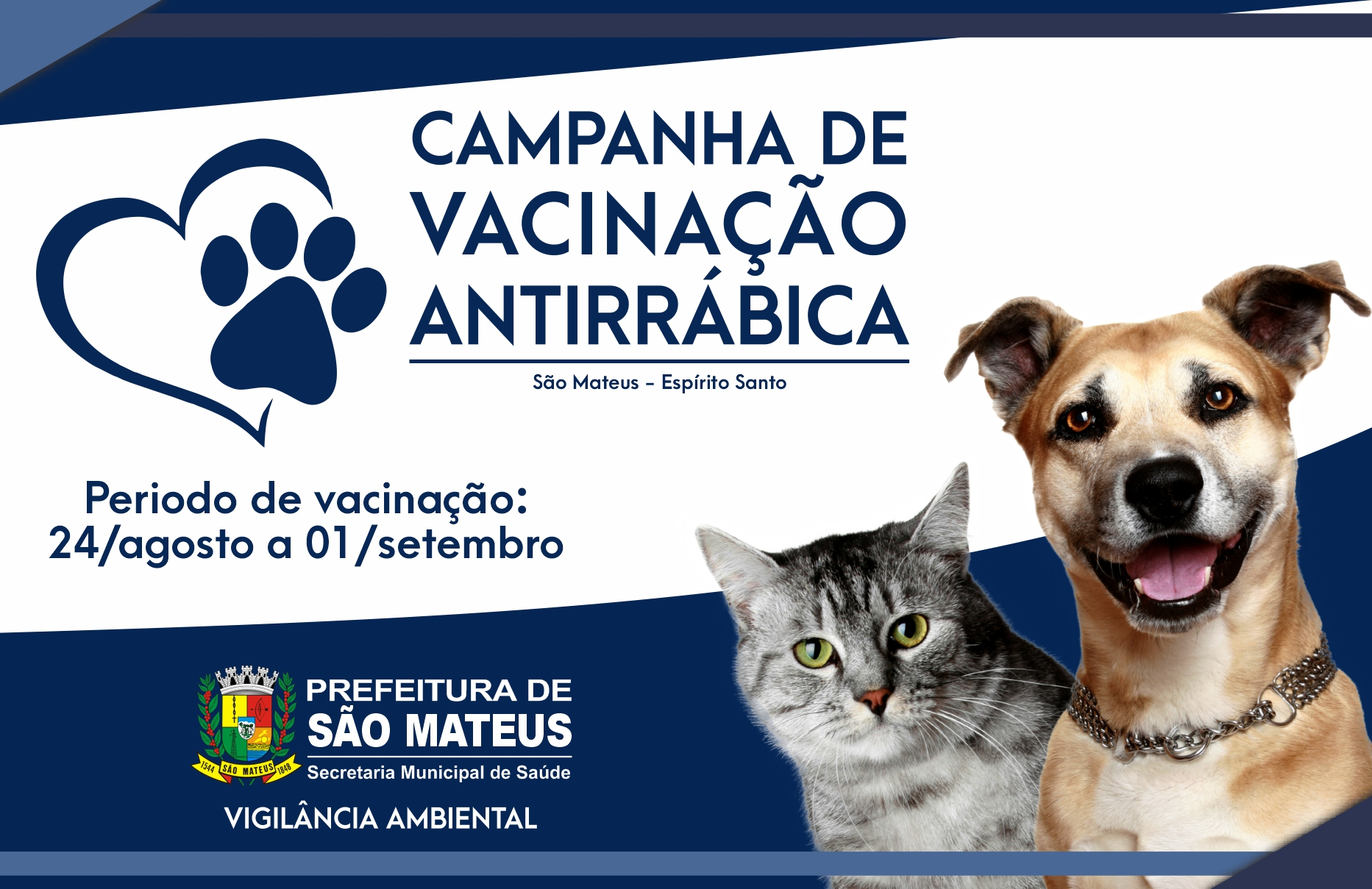 CAMPANHA DE VACINAÇÃO ANTIRRÁBICA PARA CÃES E GATOS 2020