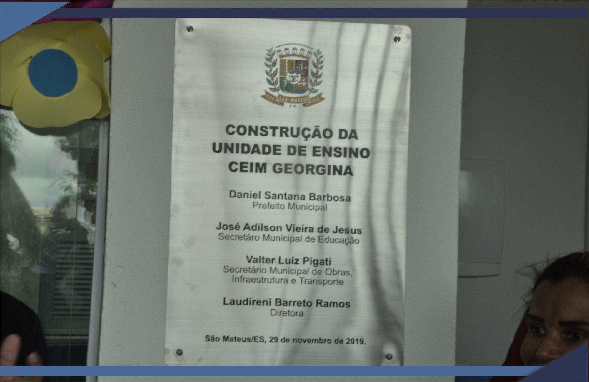ASSENTAMENTO GEORGINA RECEBE CEIM ESPERADO HÁ MAIS DE 30 ANOS