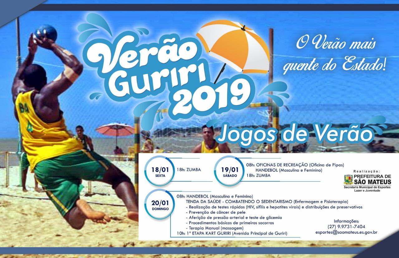 Jogos de Verão trazem Handebol e Kart para o balneário de Guriri