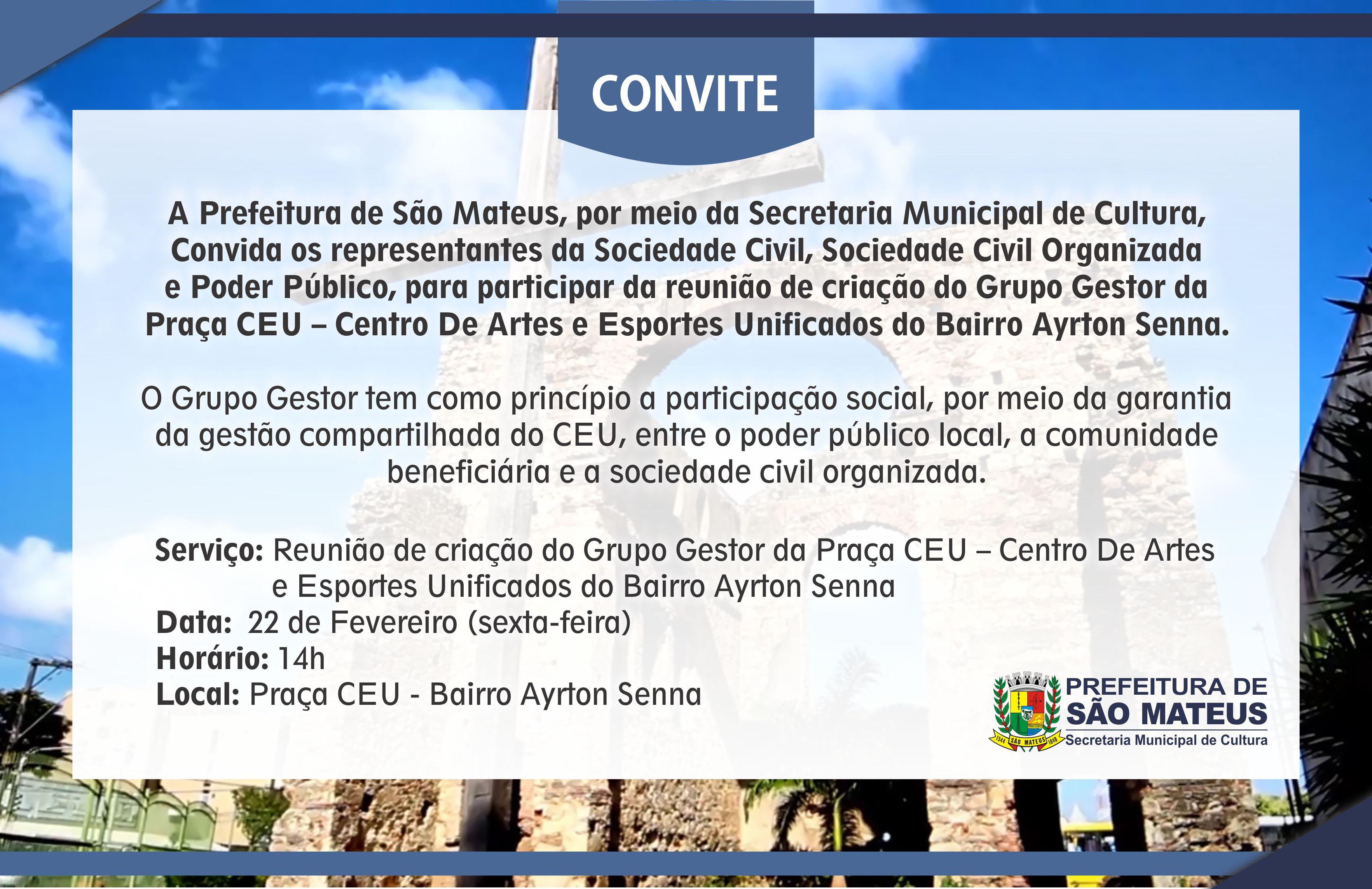 Prefeitura realiza reunião de criação de Grupo Gestor da Praça CEU no Bairro Ayrton Senna