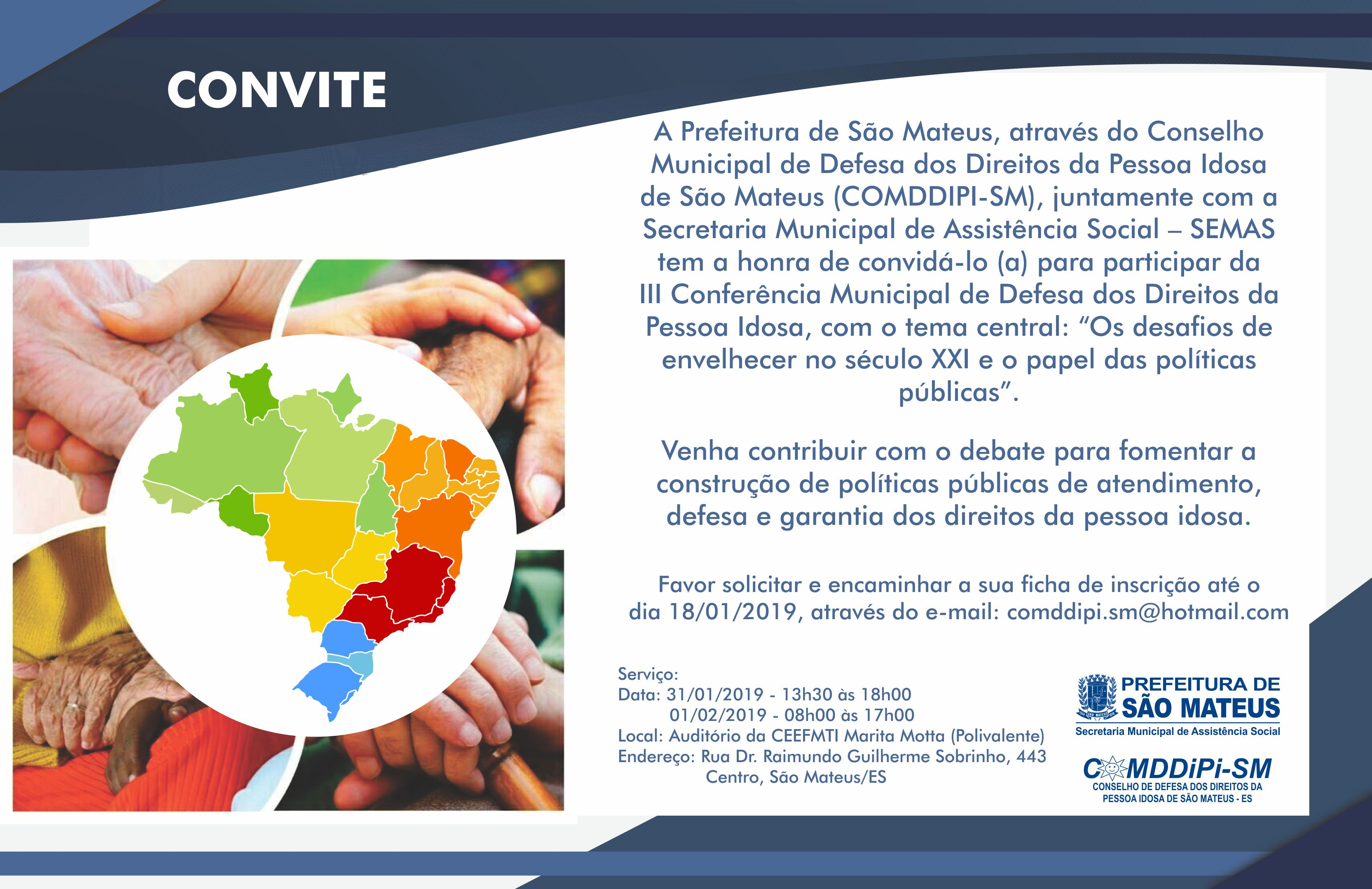 PMSM Realiza III Conferência Municipal de Defesa dos Direitos da Pessoa Idosa