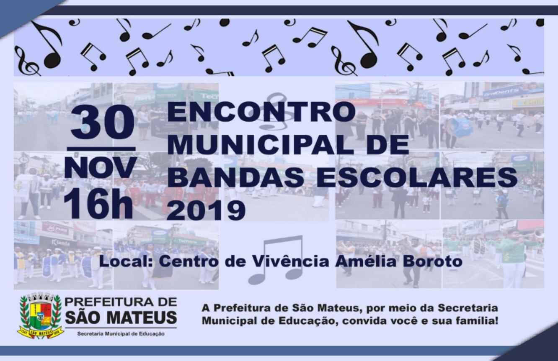 ENCONTRO MUNICIPAL DE BANDAS ESCOLARES 2019