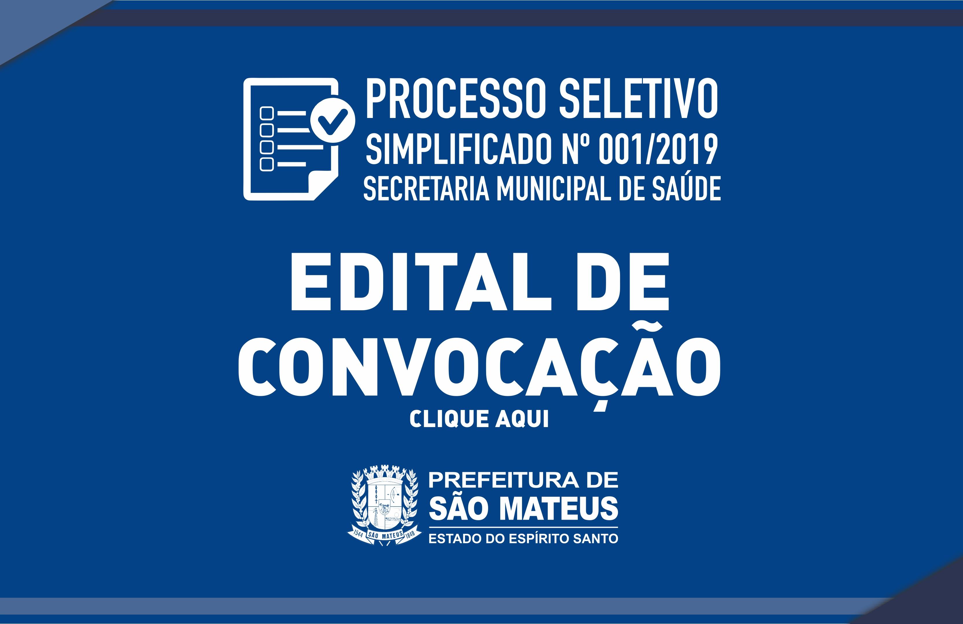 PREFEITURA DIVULGA LISTAS DE CONVOCAÇÃO DO PROCESSO SELETIVO SIMPLIFICADO PARA PROFISSIONAIS DA SAÚDE