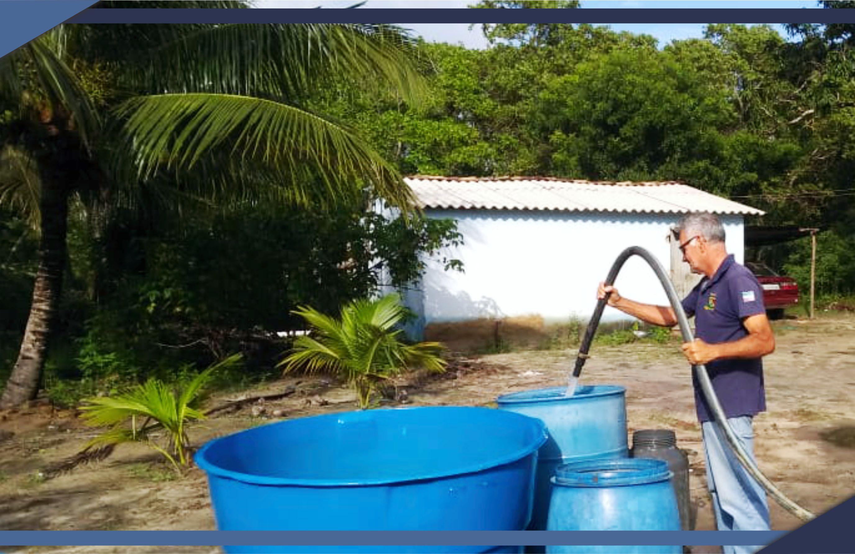 PMSM leva água potável às comunidades do interior