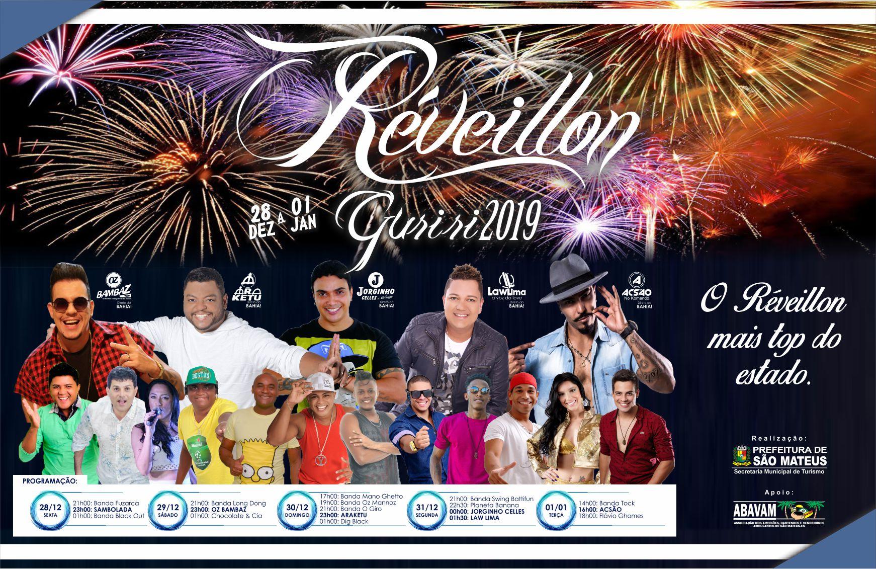 Começou nessa sexta-feira (28) a programação do Réveillon Guriri 2019