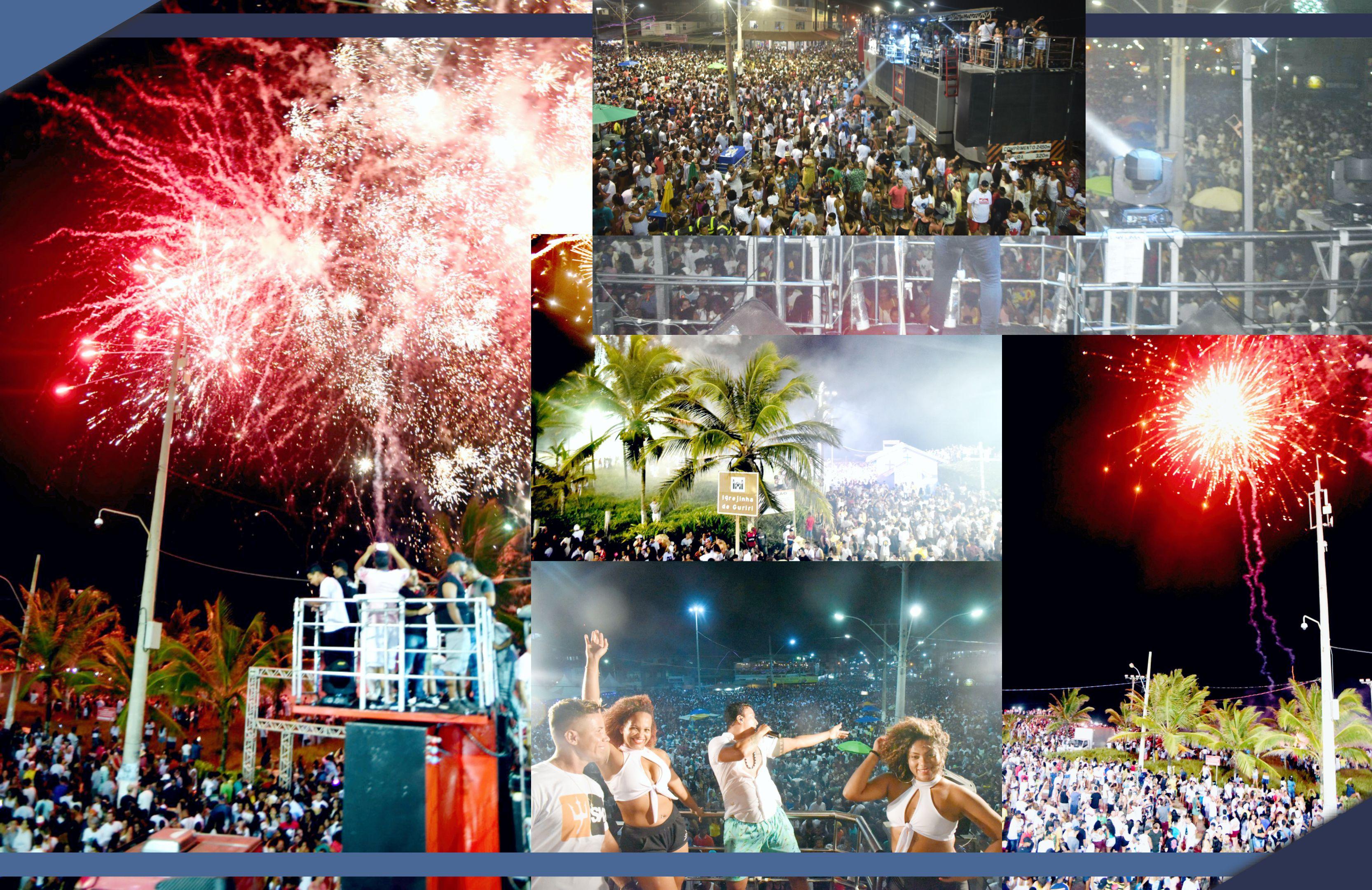 Festa do Réveillon reúne cerca de 200 mil pessoas em Guriri