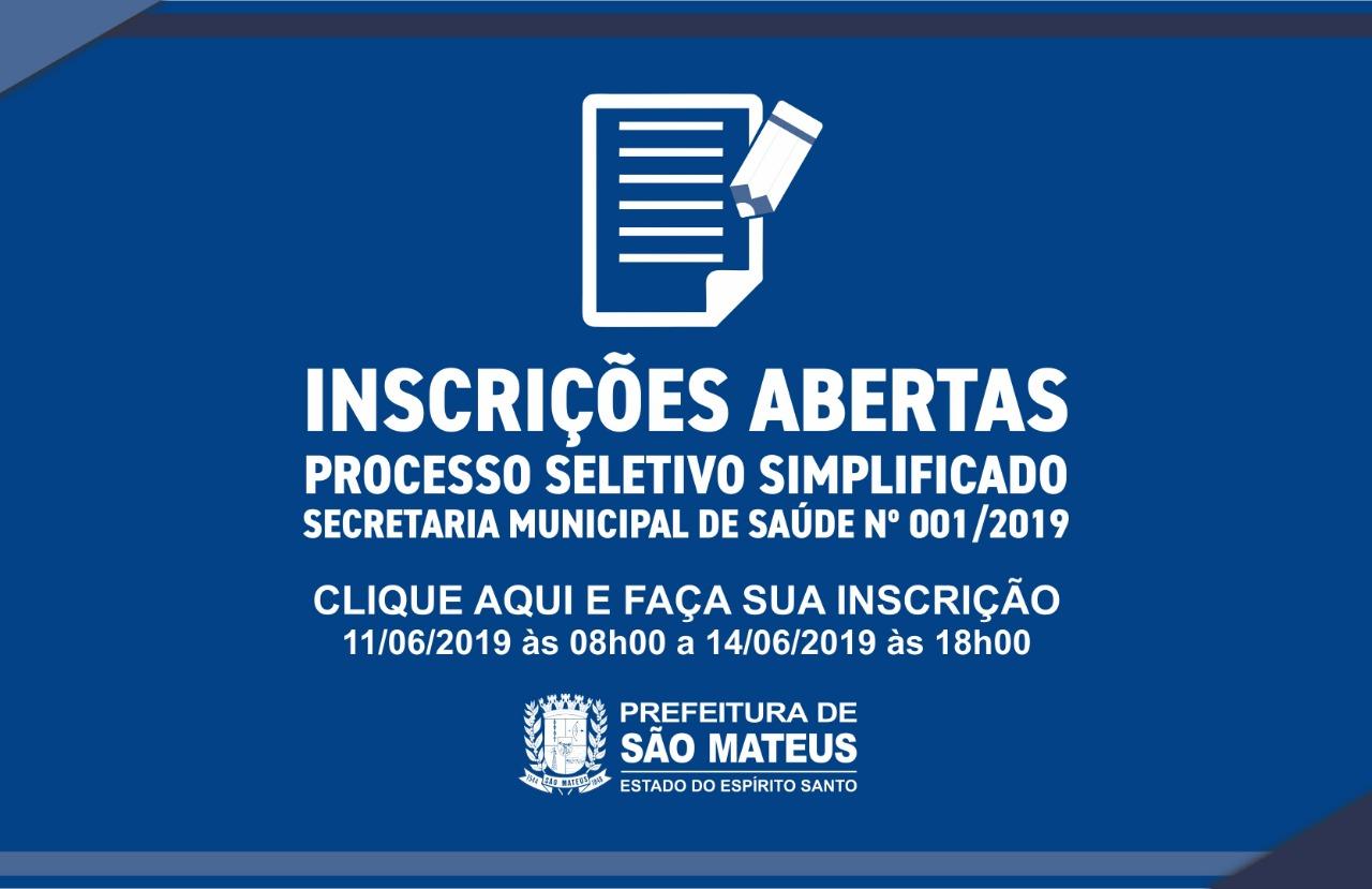 PREFEITURA ABRE INSCRIÇÕES DO PROCESSO SELETIVO SIMPLIFICADO PARA PROFISSIONAIS DA SAÚDE